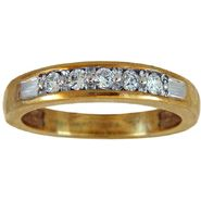 Tradition Diamond 10k Yellow gold 1/4cttw Round Cluster Diamond Band at Sears.com