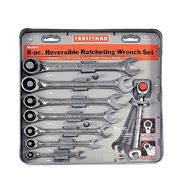 Craftsman 8 pc. Metric Reversible Ratcheting Combination Wrench Set at Sears.com