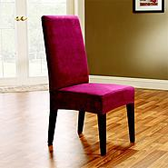 Sure Fit SOFT SUEDE SHORTY DINING ROOM CHAIR COVER at Sears.com