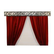 BCL Drapery Hardware, Curtain Rod Valance, Acanthus Vine on Handcrafted Solid Steel Frame, Antique Silver Finish, 68-Inch at Sears.com