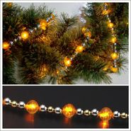 Starlite Creations 9Ft LED Christmas Décor Beaded Lights, 54 Lights, Gold at Kmart.com