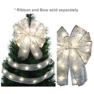 Starlite Creations LED Christmas Décor Tree Topper Bow Lights, 36 Lights, White at Kmart.com