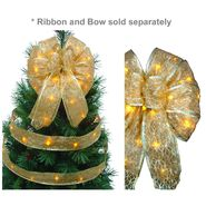Starlite Creations LED Christmas Décor Tree Topper Bow Lights, 36 Lights, Gold at Kmart.com