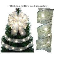 Starlite Creations 12Ft LED Christmas Décor Ribbon Lights, 36 Lights, White at Kmart.com