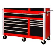 "Craftsman 56"" 10-Drawer Ball Bearing Slides Roller Cabinet Red&Black at Sears.com"