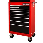"Craftsman 27"" 9-Drawer Ball Bearing Slides Roller Cabinet  Red&Black at Sears.com"