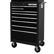 "Craftsman 27"" 9-Drawer Ball Bearing Slides Roller Cabinet  Black at Sears.com"