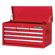 "Craftsman 27"" 6-Drawer Ball Bearing Slides Top Chest Red at Sears.com"