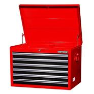 "Craftsman 27"" 6-Drawer Ball Bearing Slides Top Chest Red&Black at Sears.com"