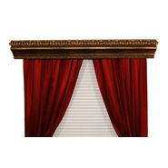BCL Drapery Hardware, Double Curtain Rod Cornice, Marion Custom Moulding, Siena Gold Finish, 54-Inch at Kmart.com