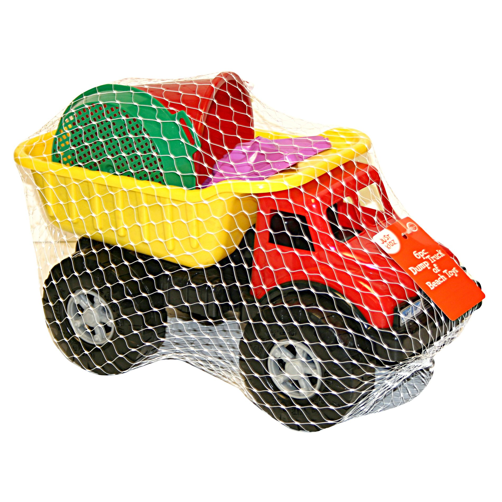 6 Pc. Dump Truck of Beach Toys                                                                                                   at mygofer.com