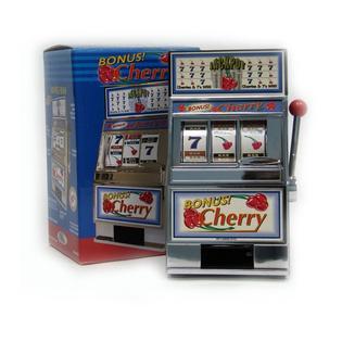 CHERRY BONUS SLOT MACHINE BANK W SPINNI