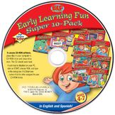 PC Treasures PC Treasures High Achievers: Early Learning Fun - 8 titles - English and Spanish - CD -PC at mygofer.com