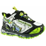 Disney Toddler Boys Toy Story Athletic Shoe - Flashes - Black/White/Green at Kmart.com
