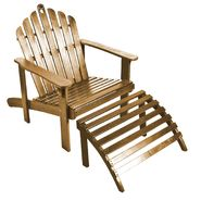 Natural Adirondack Chair with Ottoman at Kmart.com
