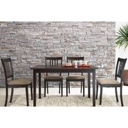 Baxton Sharon Brown Wood 5-Piece Modern Dining Set at Sears.com