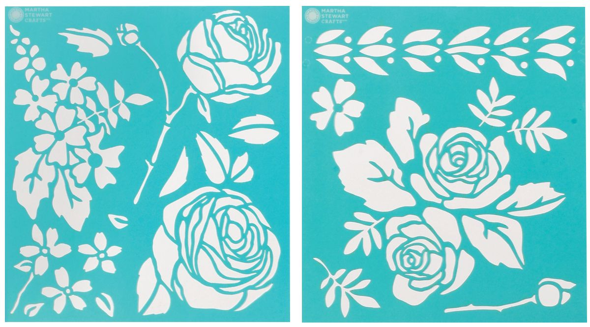 Martha Stewart Crafts Martha Stewart Medium Stencils, Rose Garden