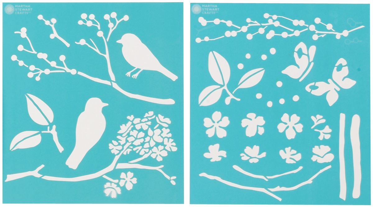Martha Stewart Crafts Martha Stewart Medium Stencils, Birds/Berries
