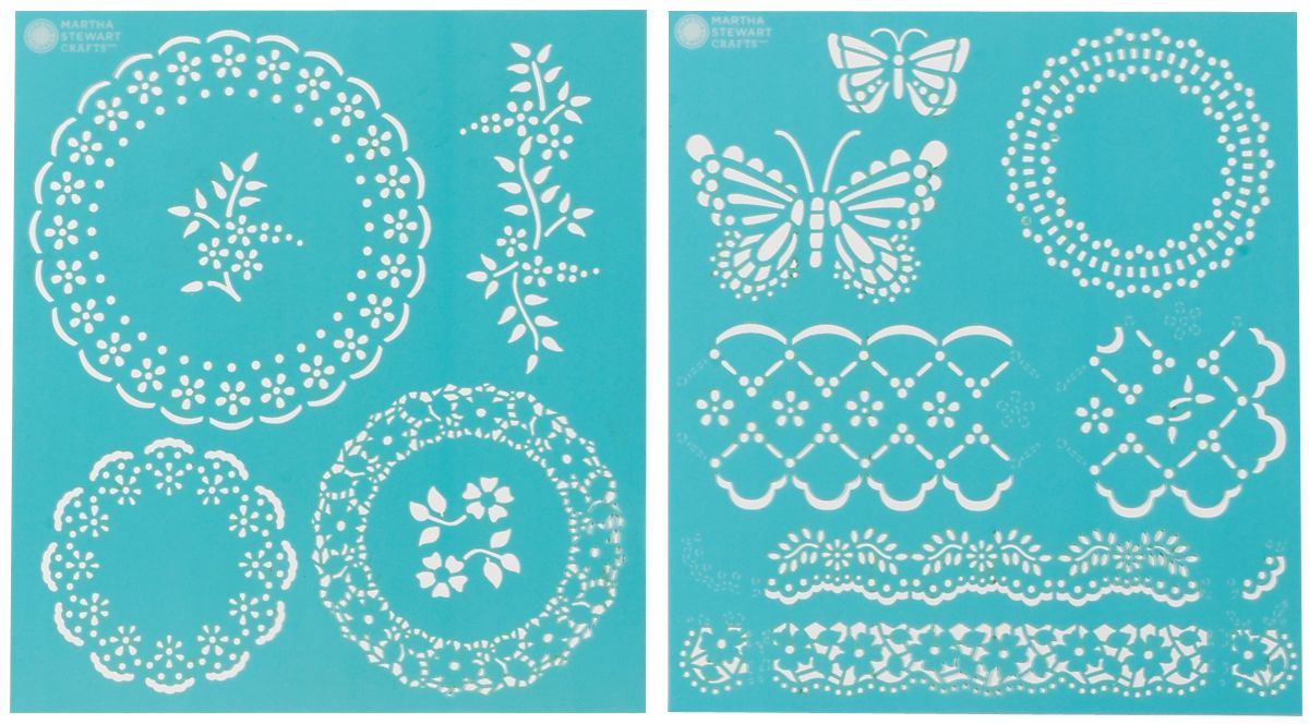 Martha Stewart Crafts Martha Stewart Medium Stencils, Eyelet Lace