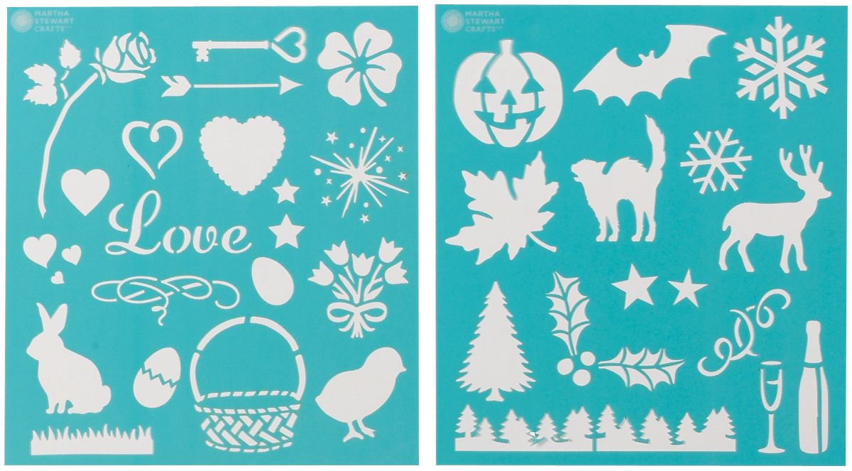 Martha Stewart Crafts Martha Stewart Medium Stencils, Holiday Icons