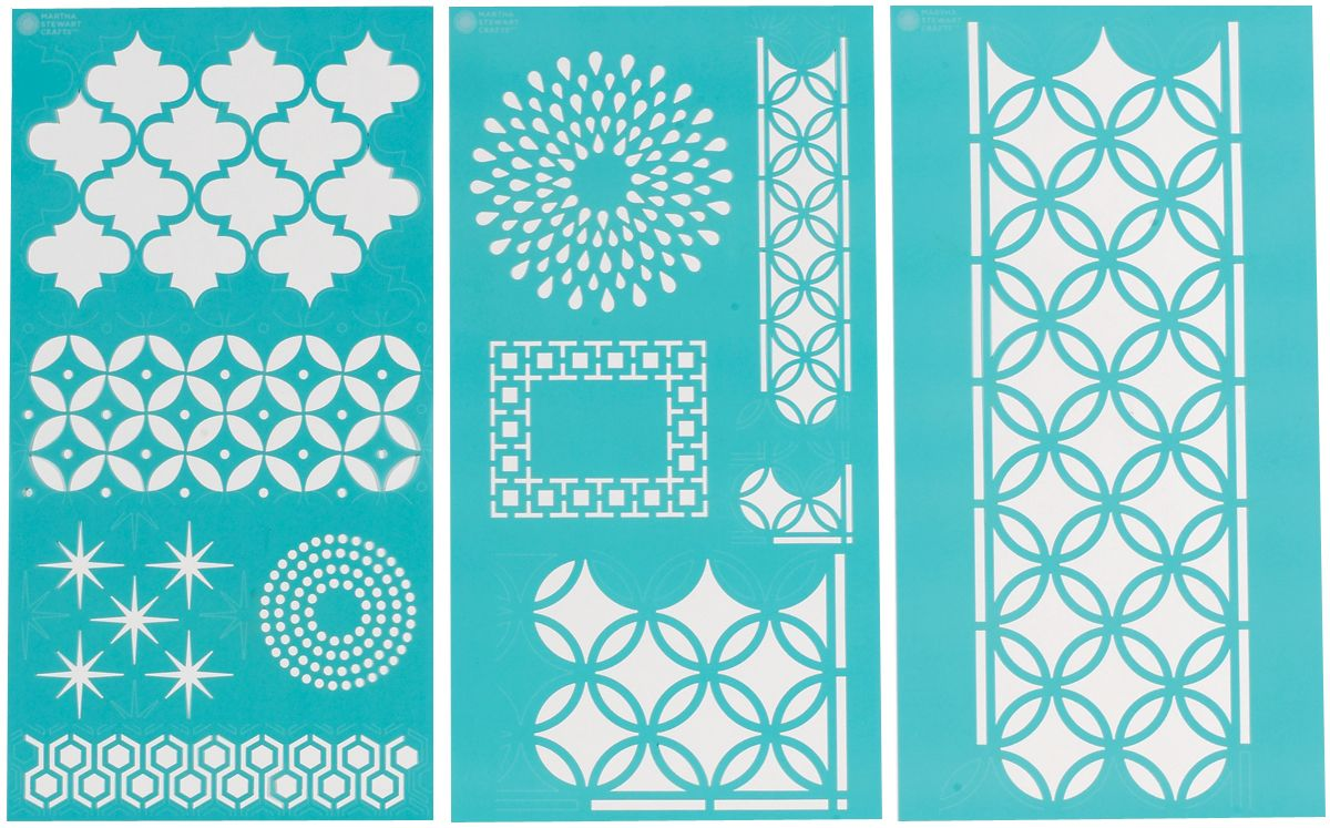 Martha Stewart Crafts Martha Stewart Large Stencils, Arabesque