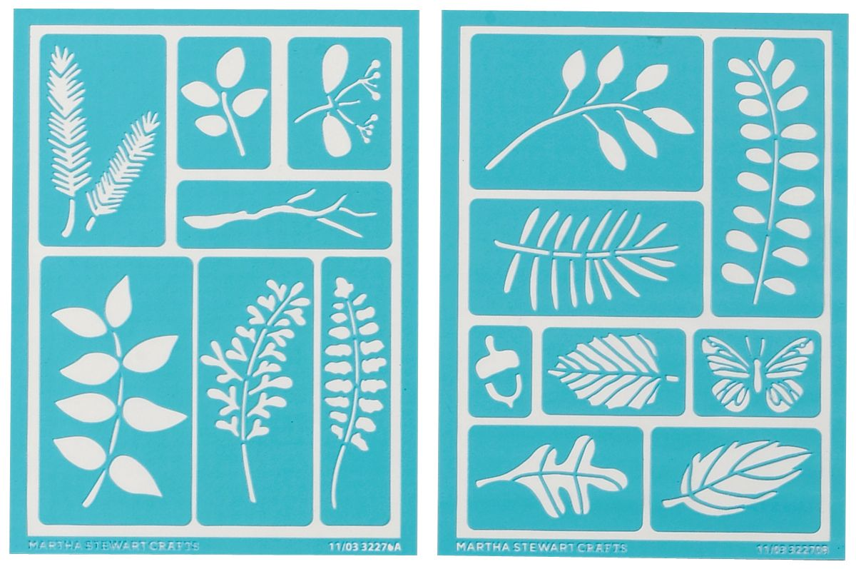 Martha Stewart Crafts Martha Stewart Adhesive Stencils, Leaves