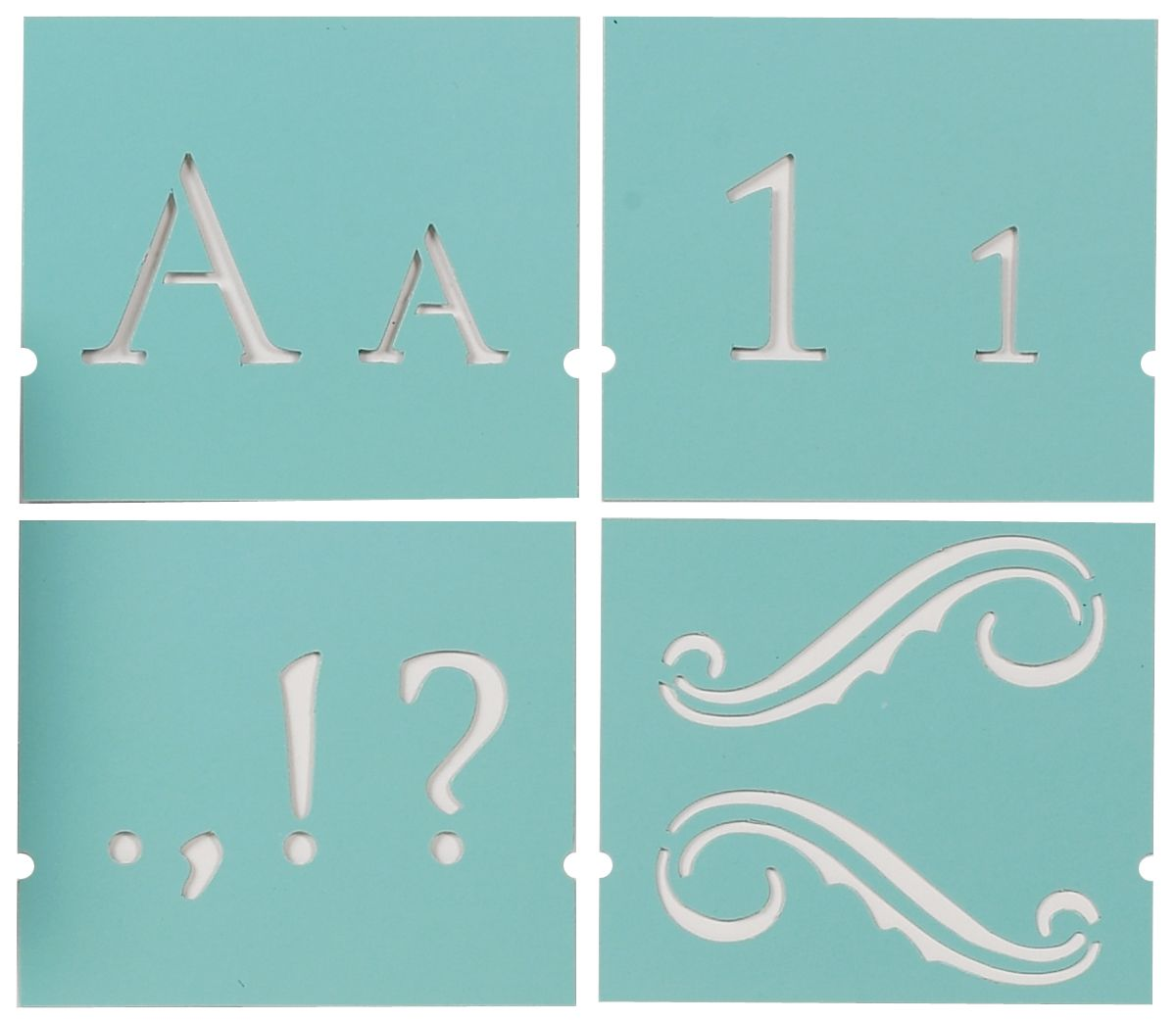 Martha Stewart Crafts Martha Stewart Large Alphabet Stencil, Monogram Serif