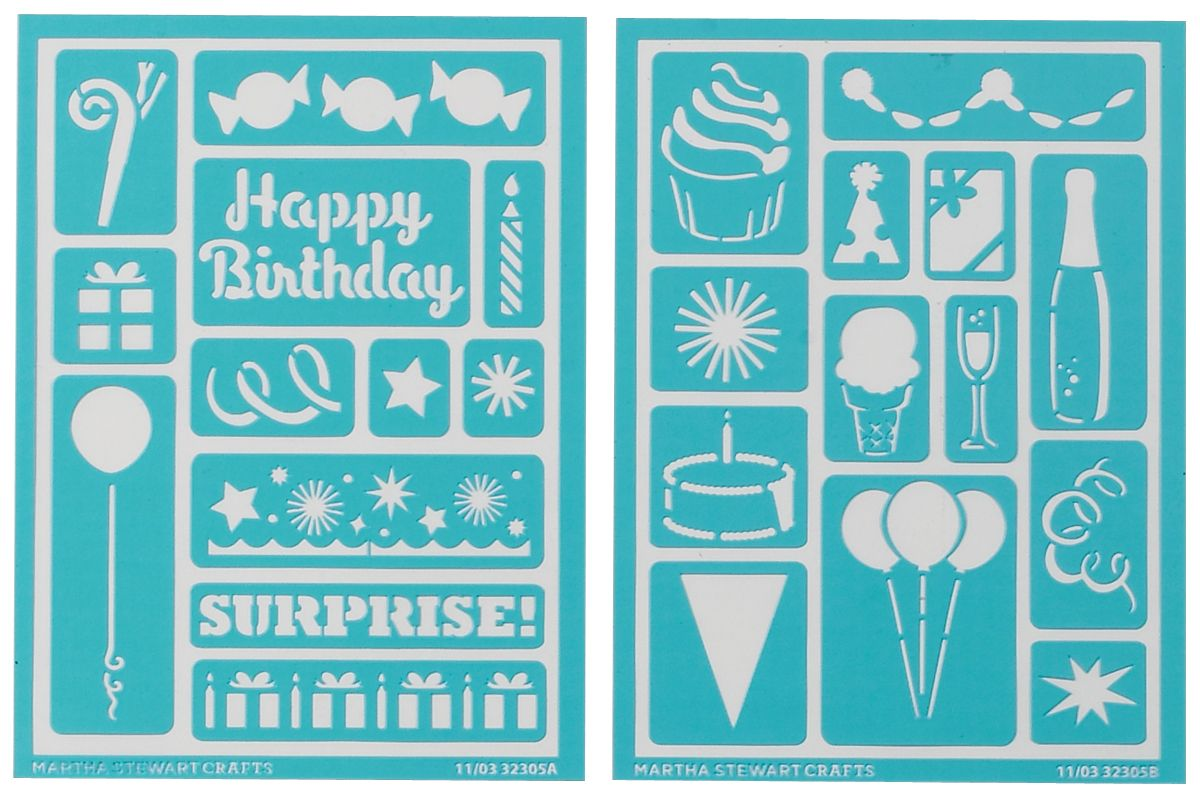 Martha Stewart Crafts Martha Stewart Adhesive Stencils, Birthday Cheers