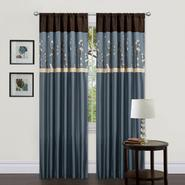 Lush Decor Cocoa Blossom Window Panel Pair Blue 42-Inch x 84-Inch at Kmart.com