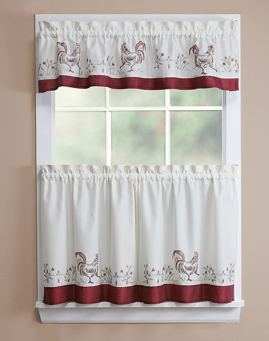 Essential Home Rooster 56X12 Valance