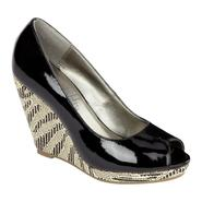 Sam & Libby Women's Monami Peep Toe Wedge - Black at Kmart.com