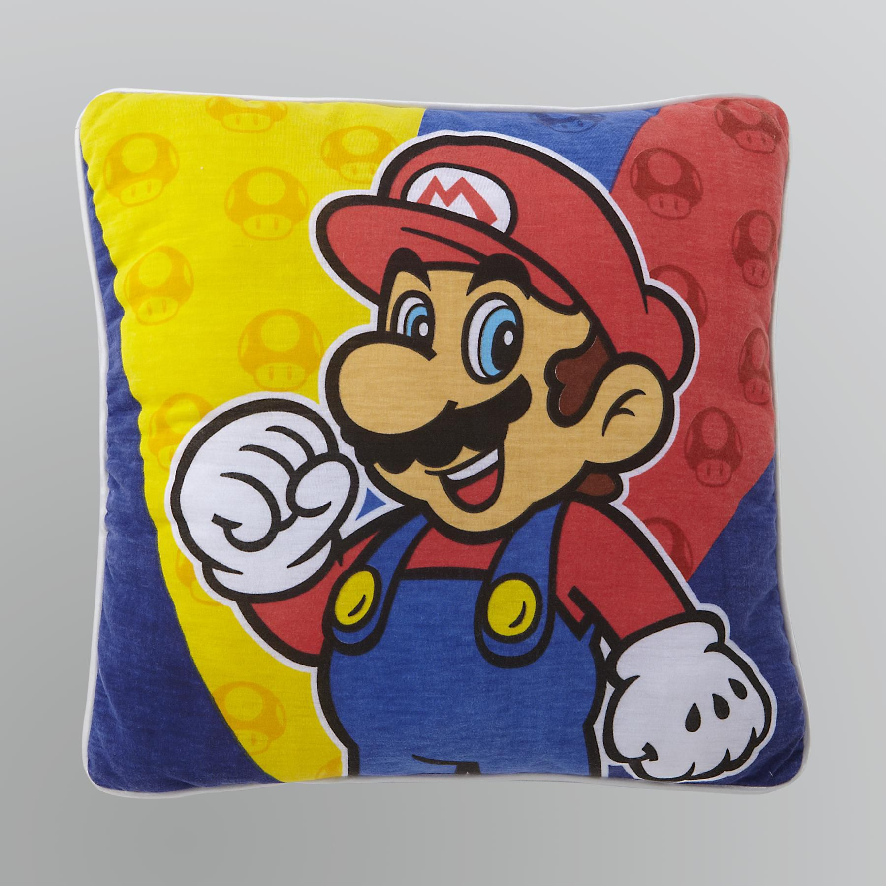 Licensed Kids  Super Mario Decorative Pillow