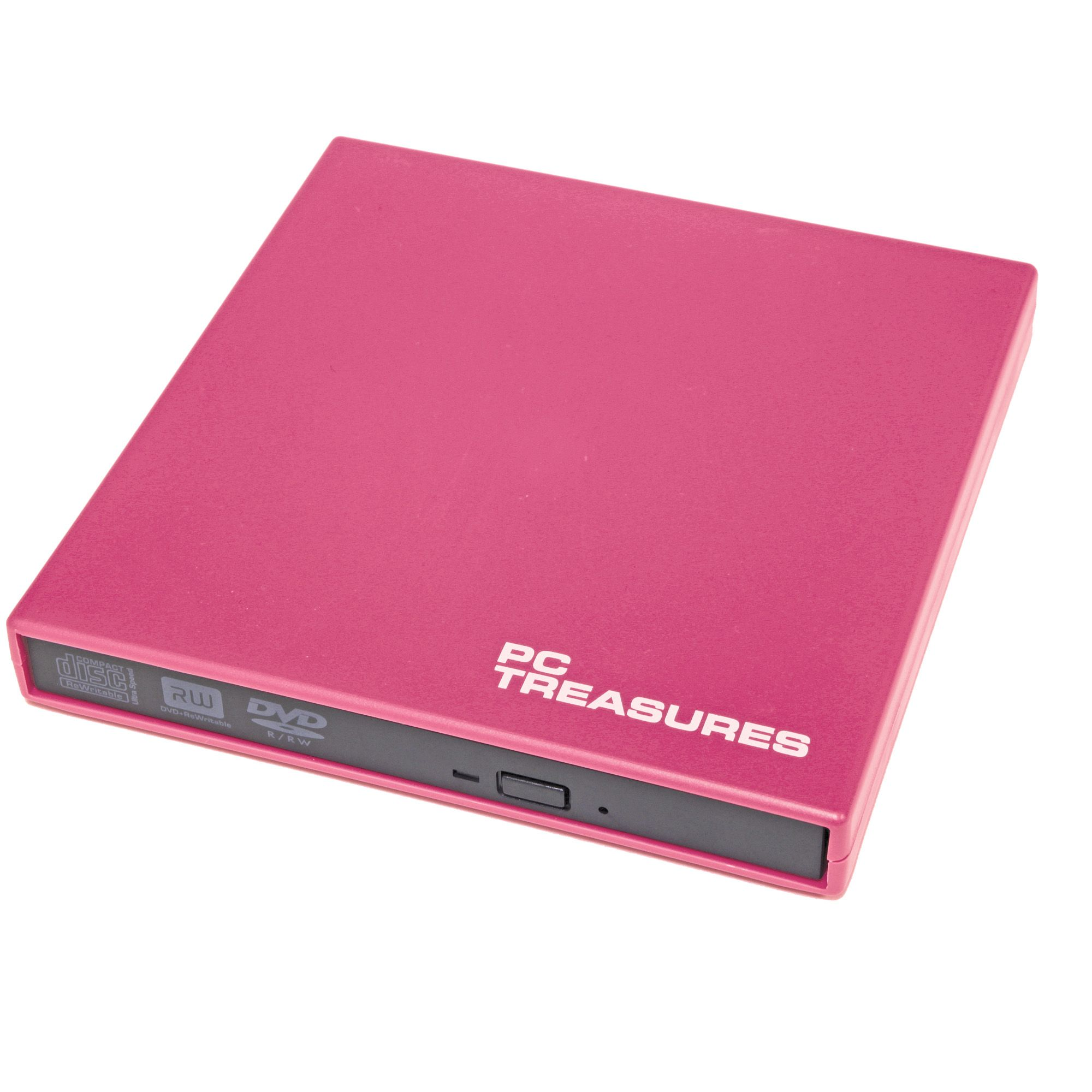 PC Treasures  External DVD/RW Drive pink