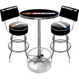 NASCAR Man Cave Combo 2 Stools with Full Backs & Pub Table at mygofer.com