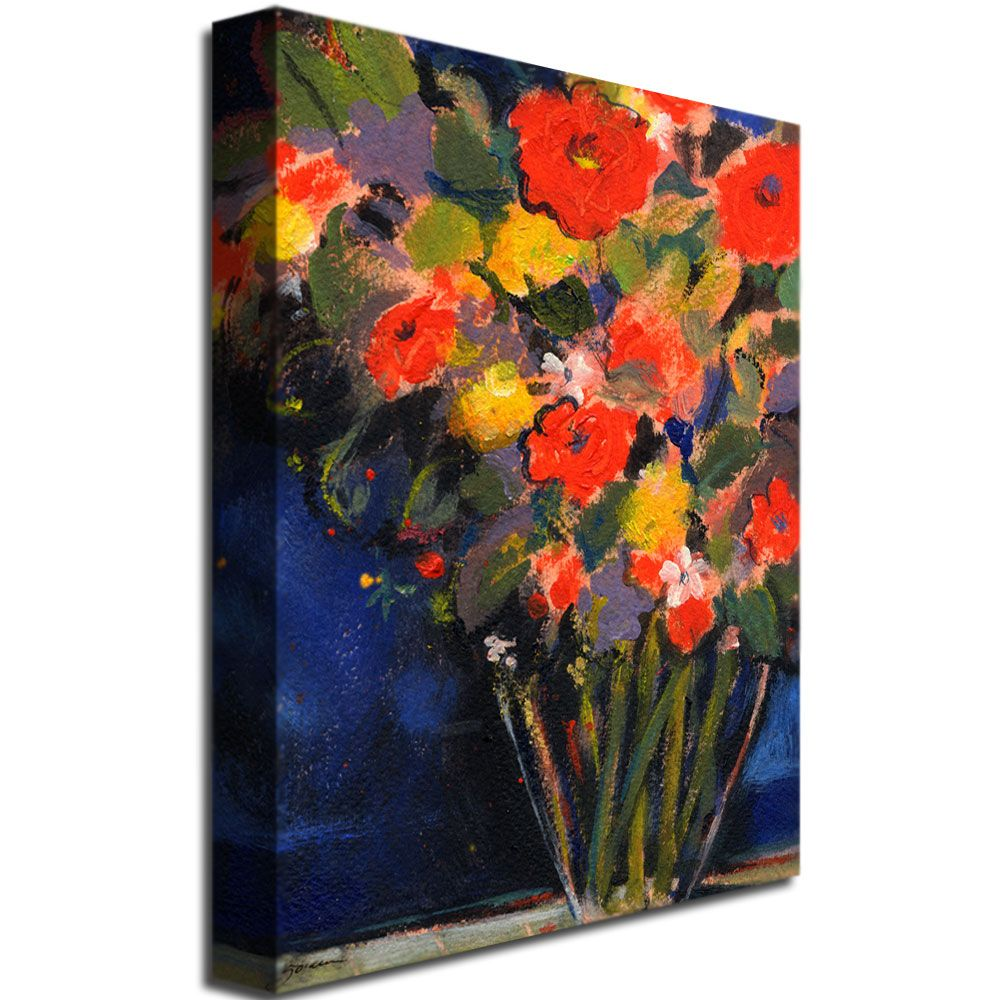 35x47 inches Sheila Golden 'Blue Wall' Canvas Art
