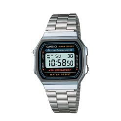 Casio Men's Calendar Day/Date Chronograph Watch w/Square Silvetone Case, Digital Dial and Silvertone Expansion Band at Kmart.com