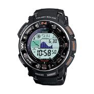 Casio Men's Calendar Day/Date Solar Power Chronograph Watch w/Round Black Case, Digital Dial and Black Band at Sears.com