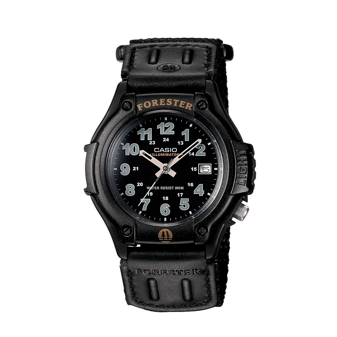 Men's Calendar Date Watch w/Round Black Case,