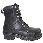 "AdTec Men's 9"" Broad Steel Toe Super Logger Black Leather Boot Wide Widths Available at Kmart.com"