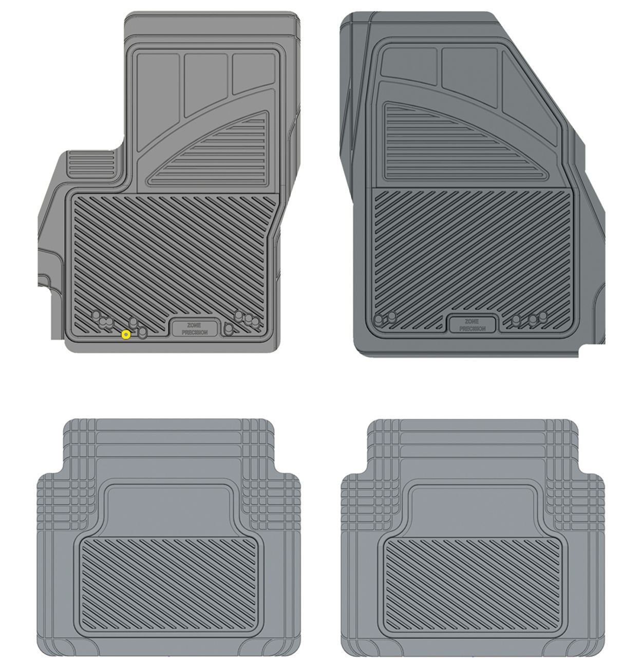 Kustom Fit Koolatron 17553 Grey Kustom Fit Precision All Weather Car Mat for 2006+ Mazda 5