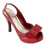 Qupid Women's Embrace-07 Bow Slingback Pump - Red at mygofer.com