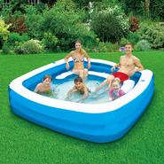 ClearWater 90in X 22in Square Family Pool with Seats at Kmart.com