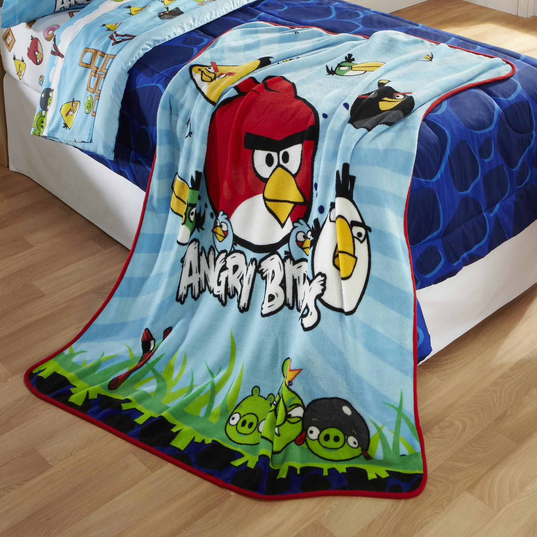 Child's Angry Birds Fleece Throw