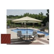 Swim Time Adriatic 6.5 ft. x 10 ft. Rectangular Market Umbrella in Terra Cotta Olefin at Kmart.com