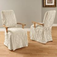 Sure Fit MATELASSE DAMASK DINING ROOM CHAIR WITH ARMS COVER at Sears.com