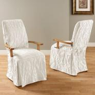 Sure Fit MATELASSE DAMASK DINING ROOM CHAIR WITH ARMS COVER at Kmart.com