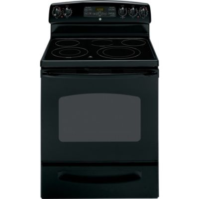 GE  30'' Freestanding Electric Range - Black