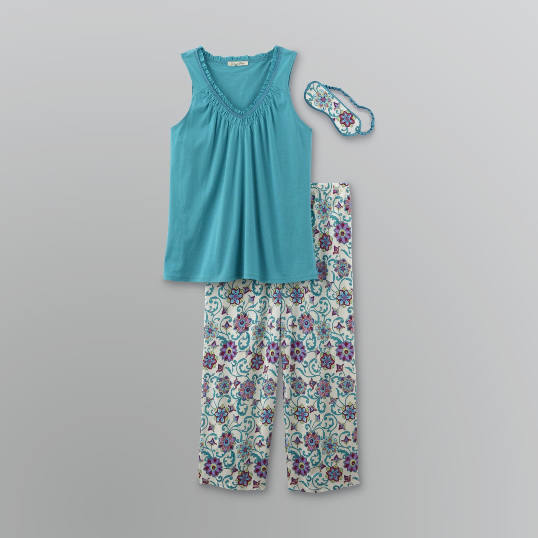 Jaclyn Smith Women's Satin-Trim Pajama Set