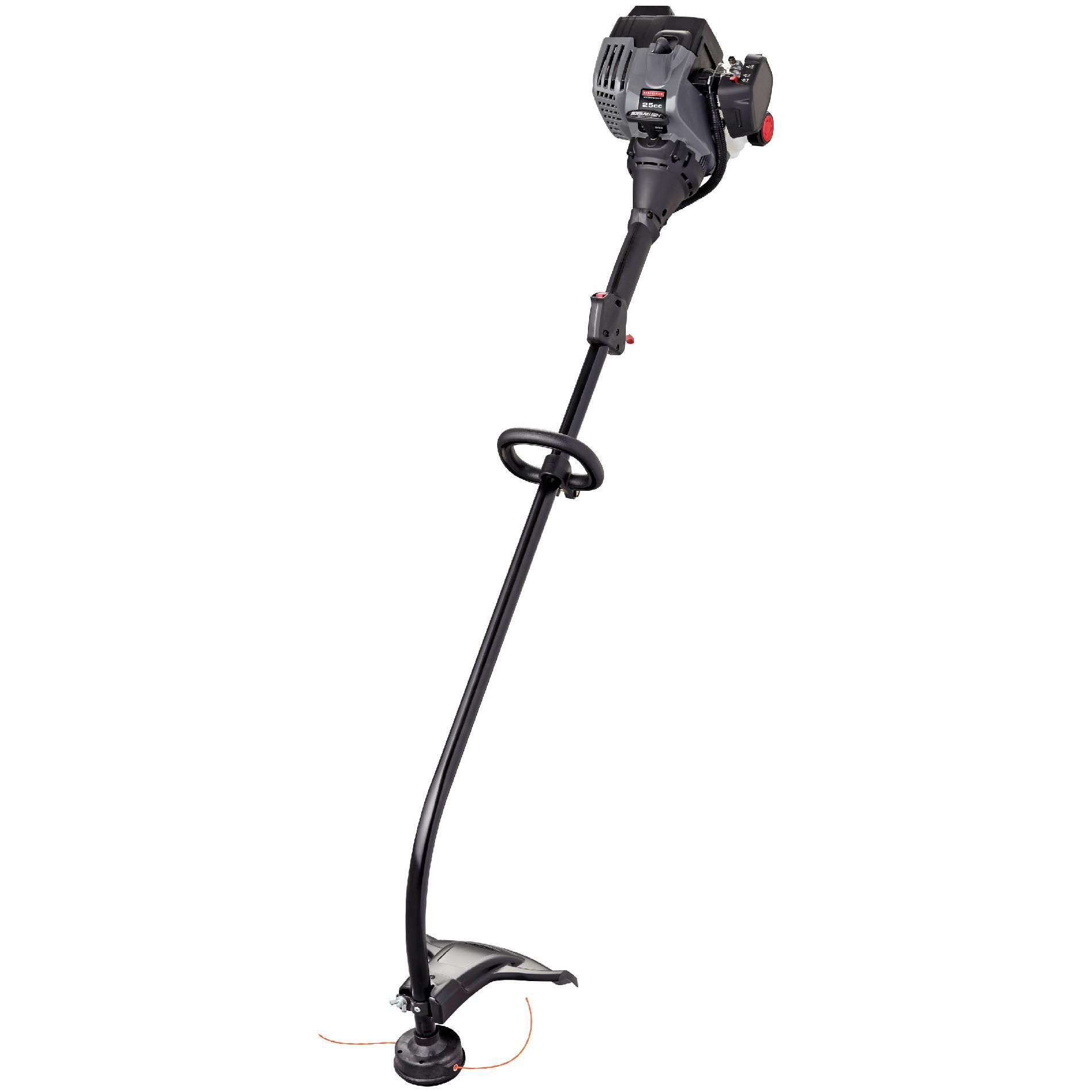 Image of Craftsman 71137 25cc 2-Cycle WeedWacker Gas Trimmer, Gray, Powder coated steel frame