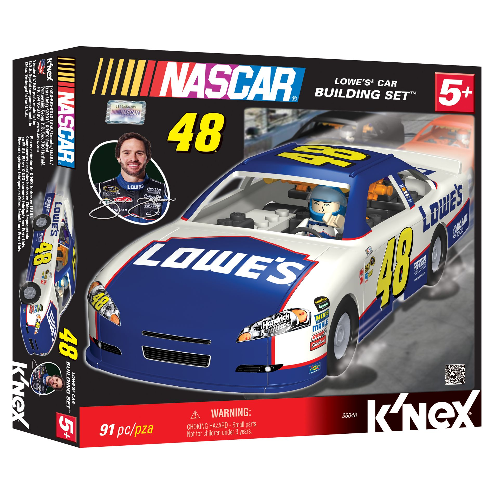 K'Nex  NASCAR Jimmie Johnson #48 LOWES CAR